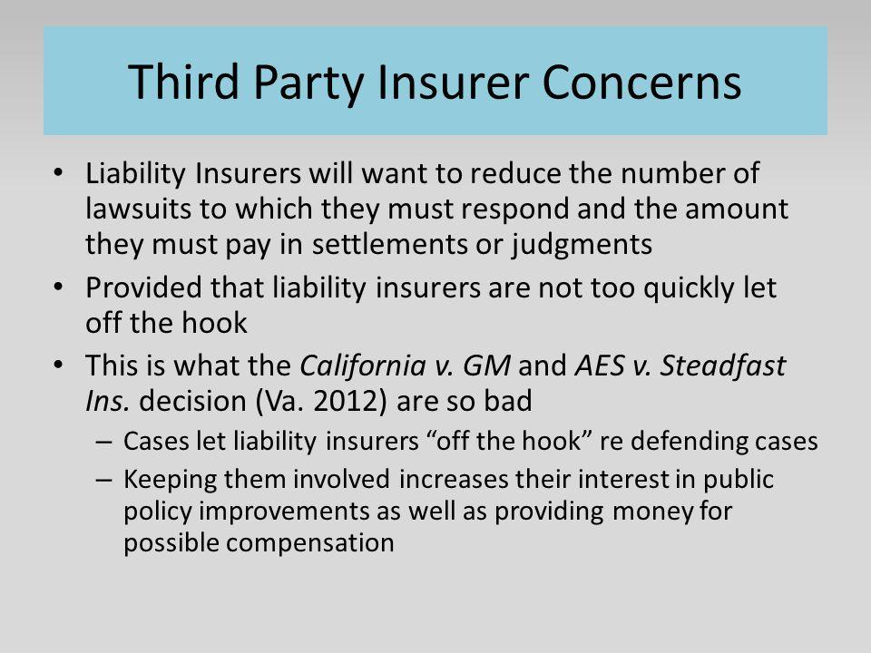 Third Party Insurer Concerns