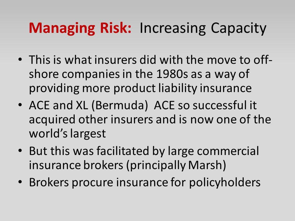 Managing Risk: Increasing Capacity