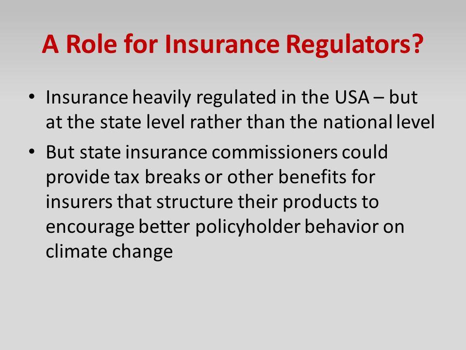 A Role for Insurance Regulators