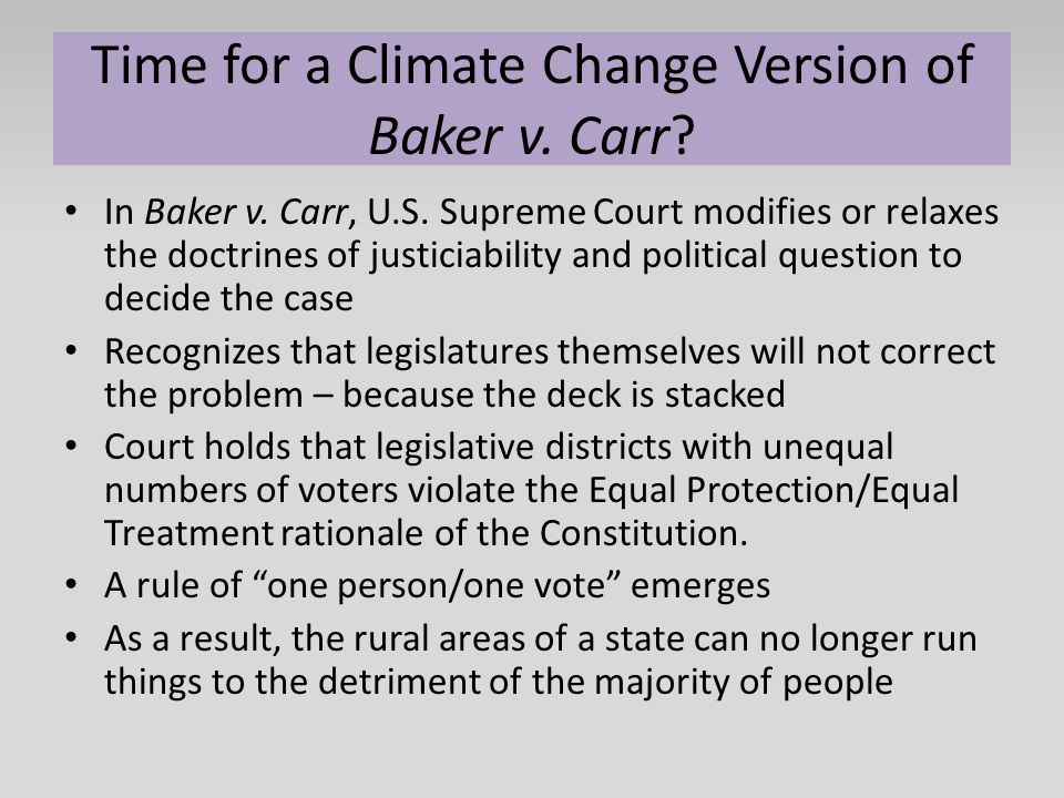 Time for a Climate Change Version of Baker v. Carr