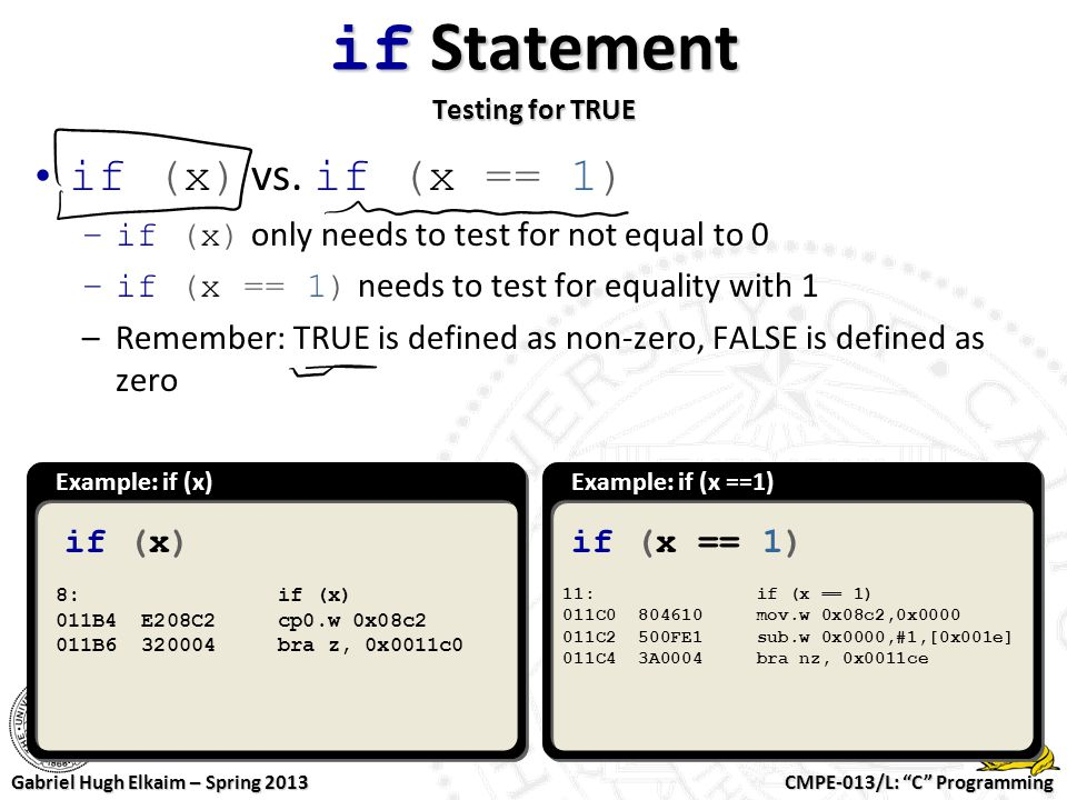 if Statement Testing for TRUE
