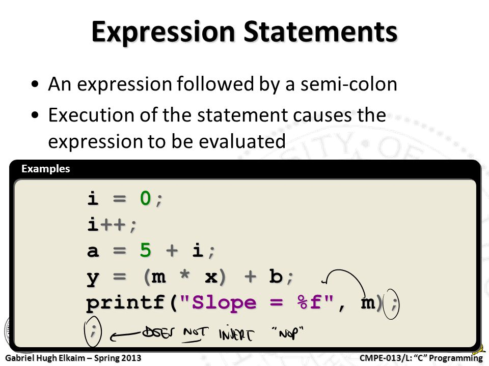 Expression Statements