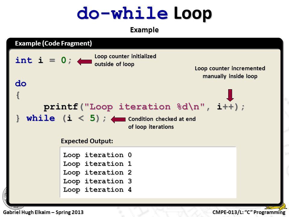 Loop counter incremented manually inside loop