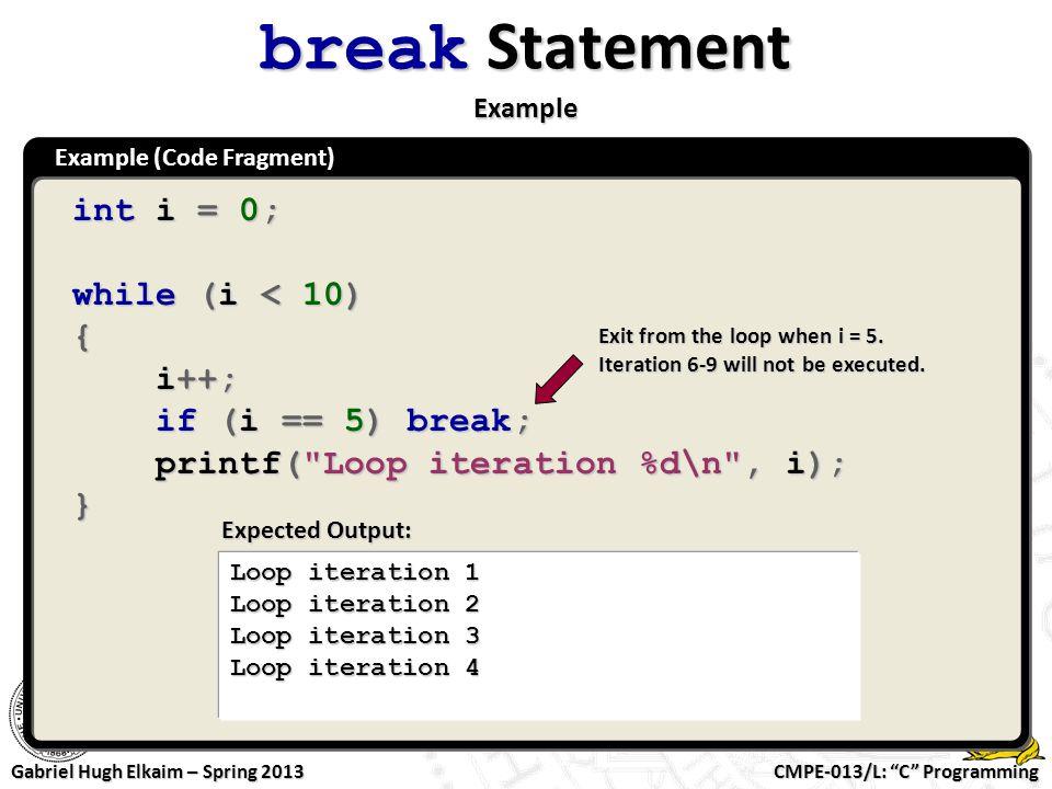 break Statement Example