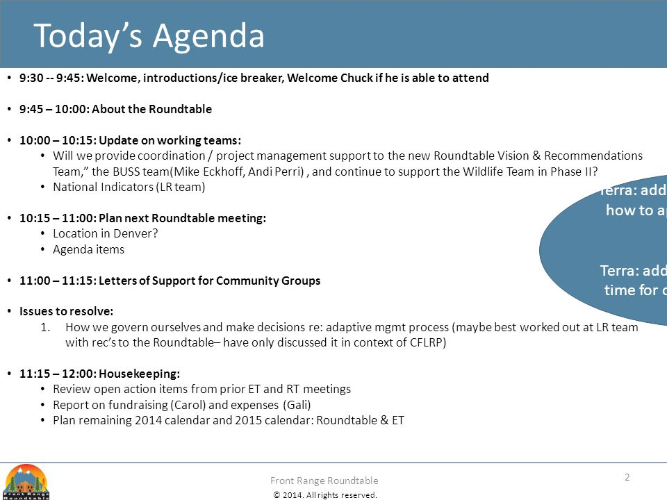 Terra: add to Nov LR mtg agenda: how to apply AM to non-CFLRP work