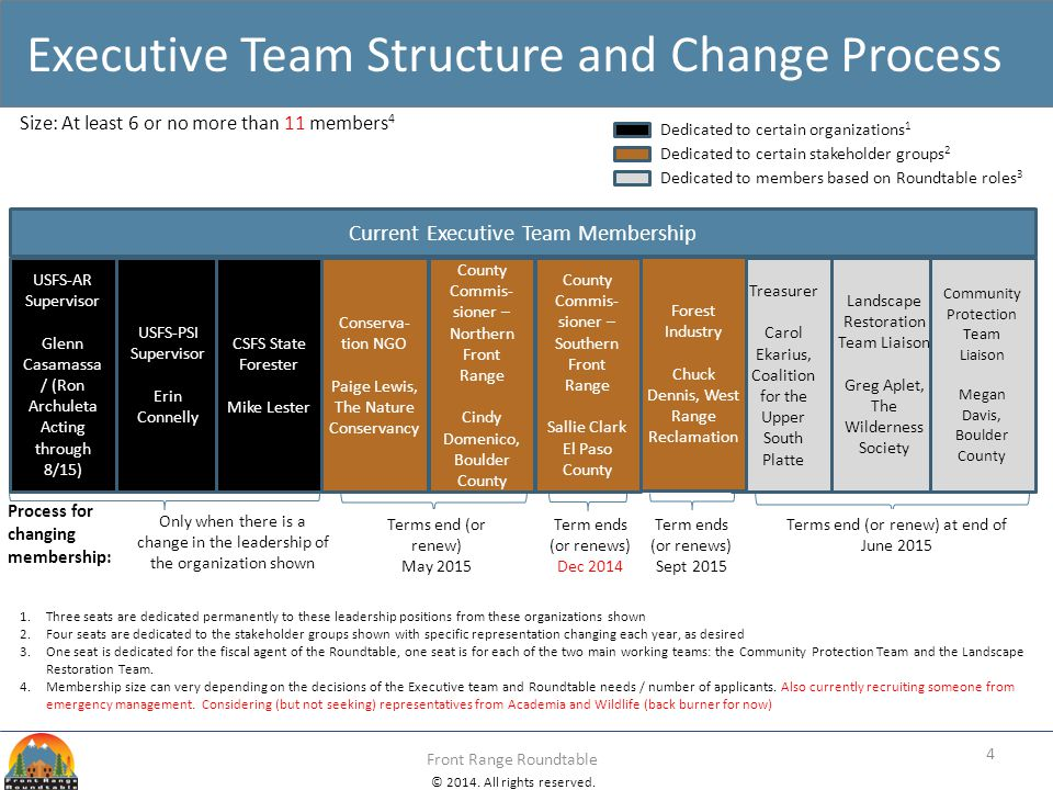 Executive Team Structure and Change Process