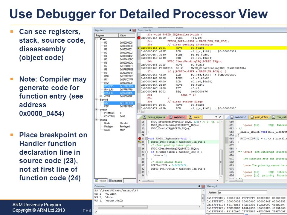 Use Debugger for Detailed Processor View
