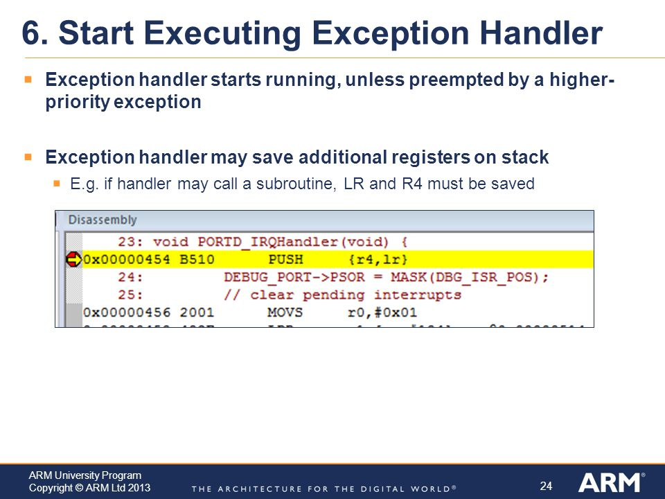 6. Start Executing Exception Handler