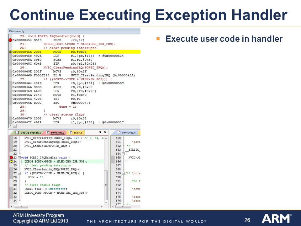 Continue Executing Exception Handler