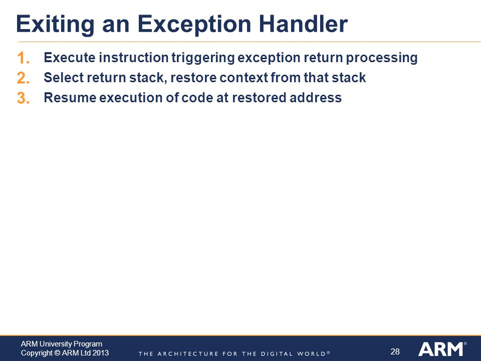 Exiting an Exception Handler
