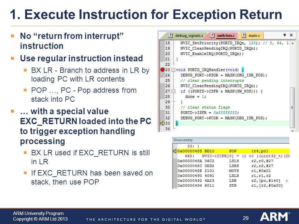 1. Execute Instruction for Exception Return