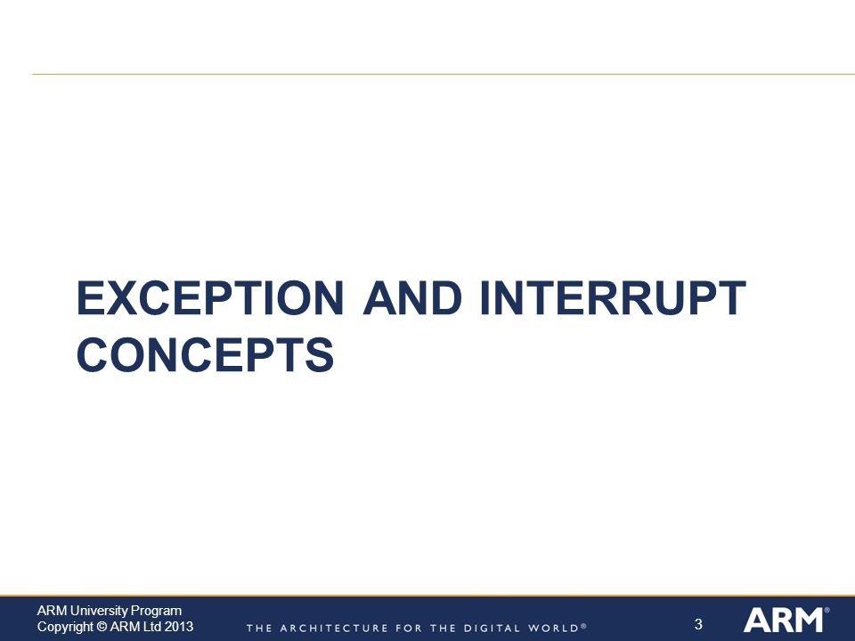 Exception and Interrupt Concepts