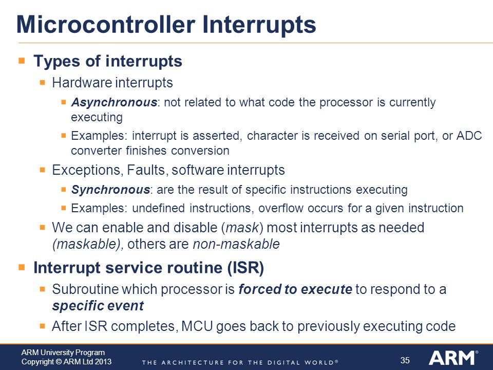 Microcontroller Interrupts
