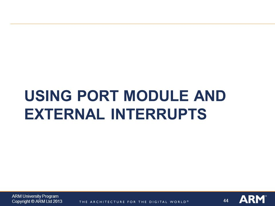 Using Port Module and External Interrupts