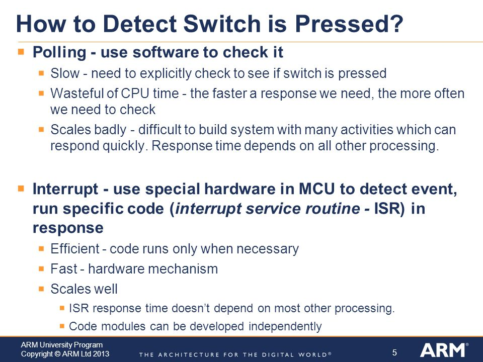How to Detect Switch is Pressed