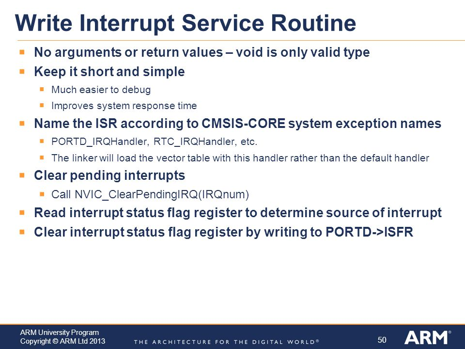 Write Interrupt Service Routine