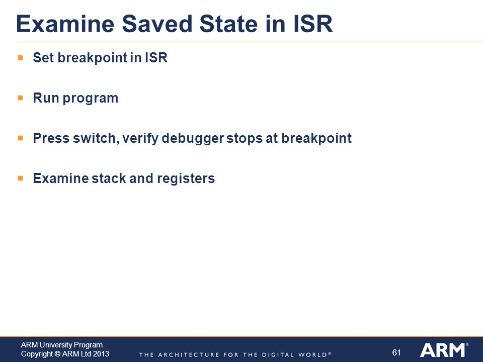 Examine Saved State in ISR
