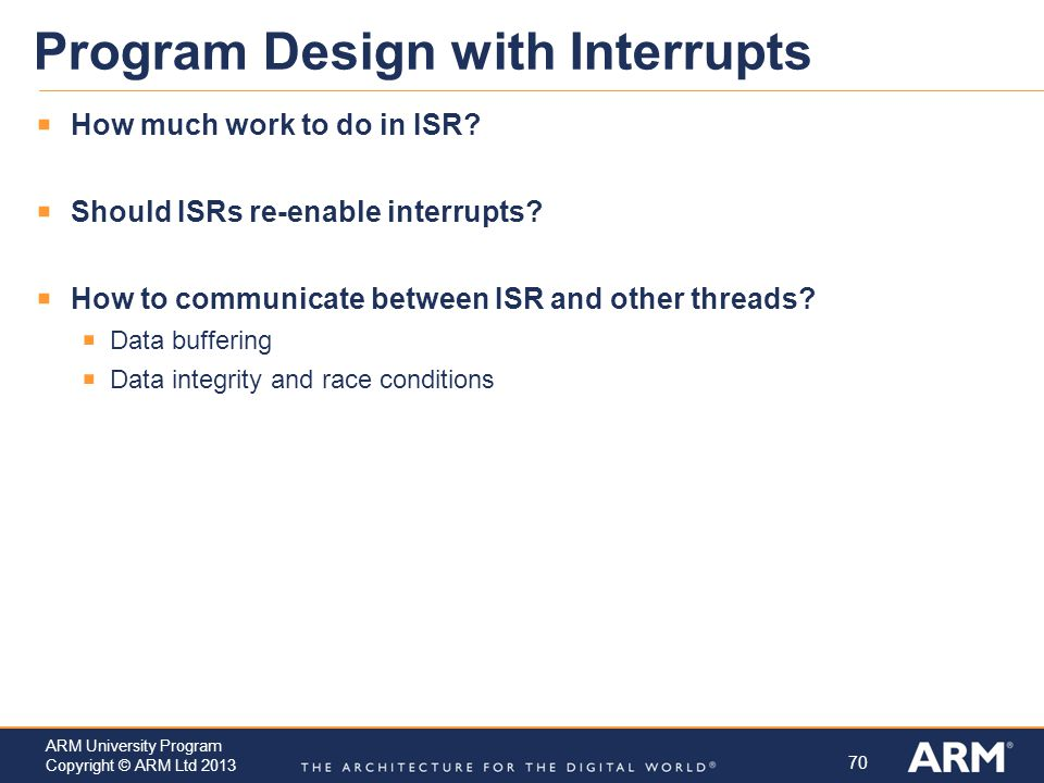 Program Design with Interrupts