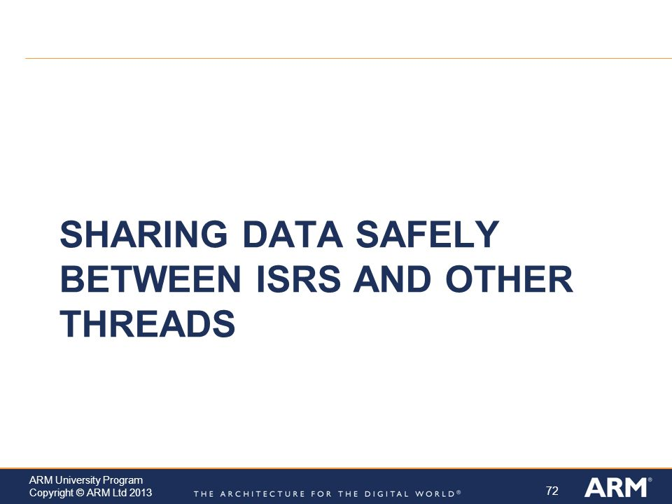 Sharing Data Safely between ISRs and other Threads
