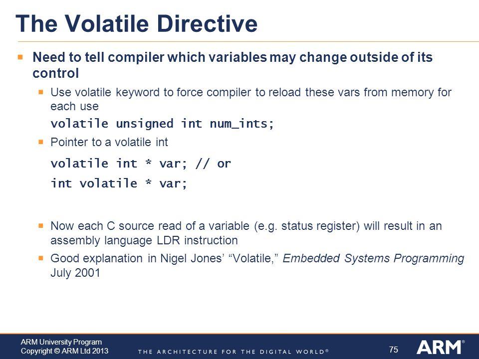 The Volatile Directive