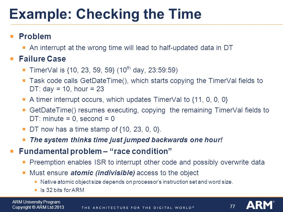 Example: Checking the Time