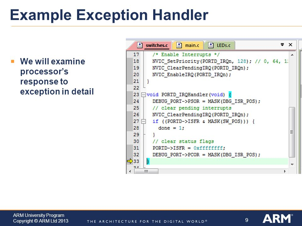 Example Exception Handler