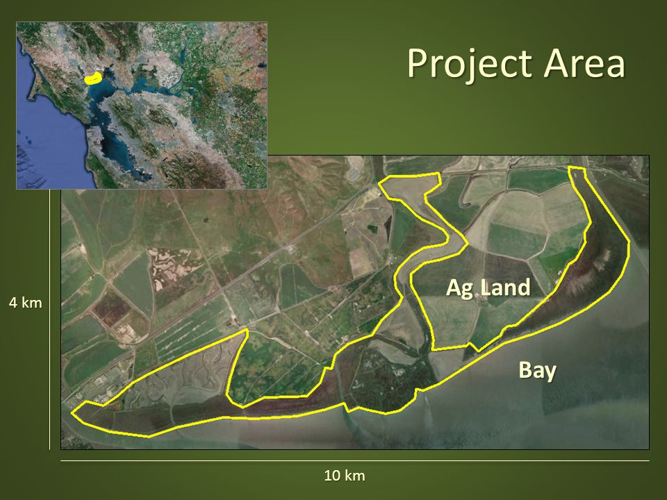 Project Area Ag Land Bay 4 km 10 km