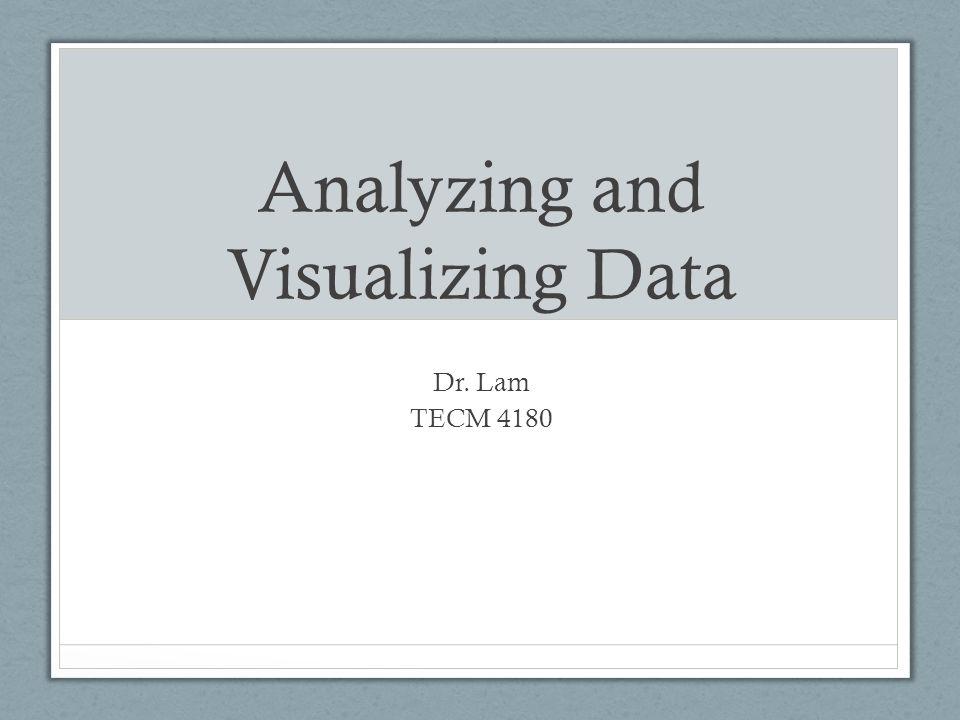 Analyzing and Visualizing Data