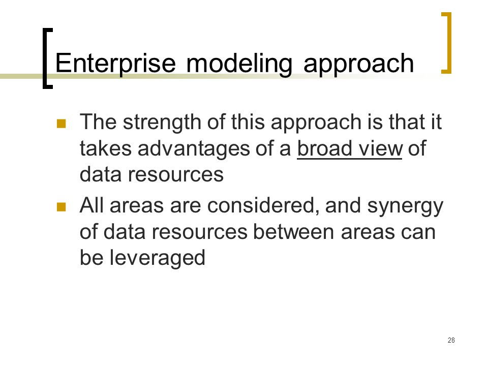 Enterprise modeling approach