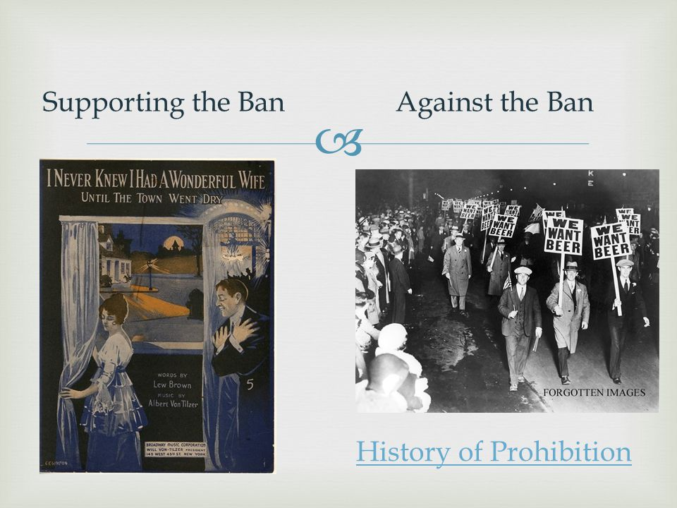 History of Prohibition