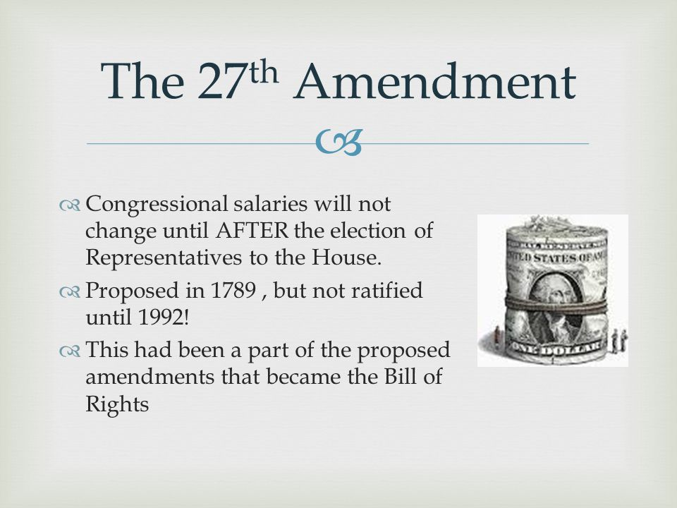 The 27th Amendment Congressional salaries will not change until AFTER the election of Representatives to the House.