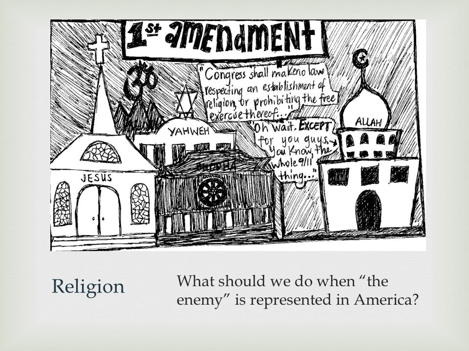 Religion What should we do when the enemy is represented in America