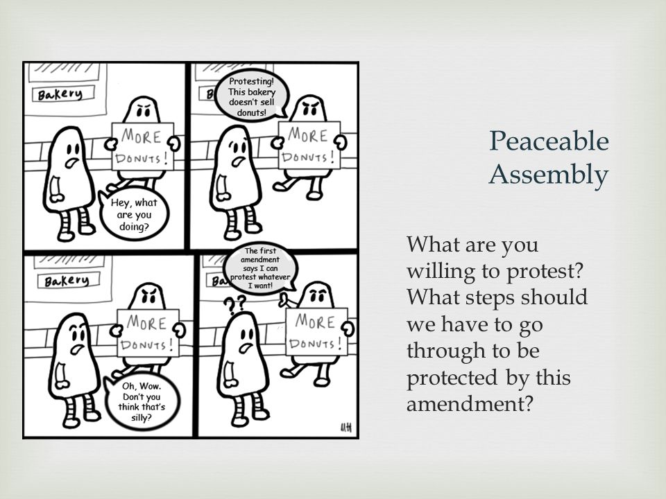 Peaceable Assembly What are you willing to protest.