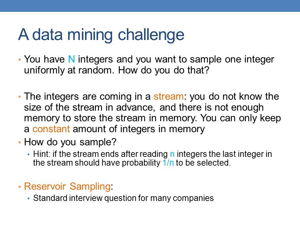 A data mining challenge