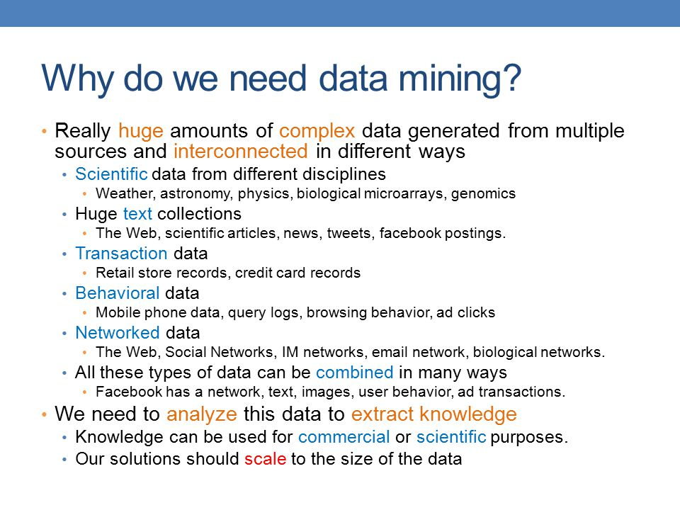 Why do we need data mining