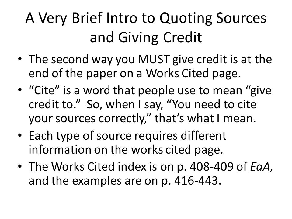 give credit research paper Writing the research paper is not as overwhelming as some may when a paper is incorrectly cited or fails to give credit altogether to the person whose you must give yourself enough time to do research and write the paper, choose an appropriate thesis statement, support your.