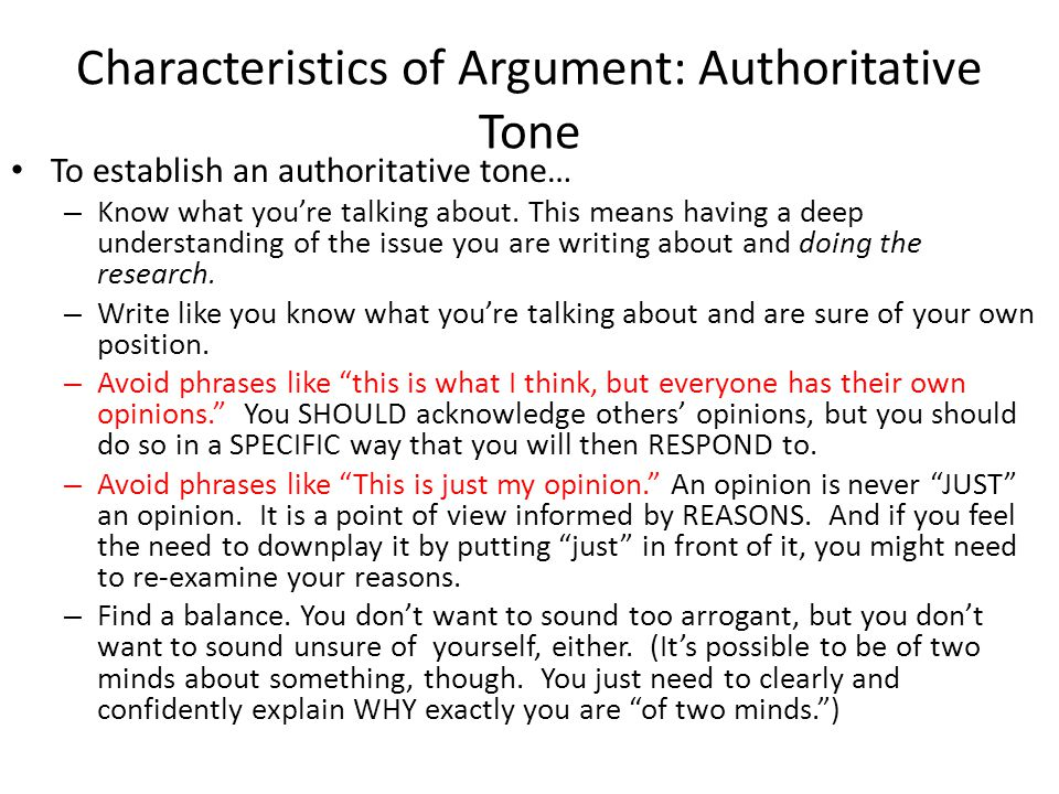 tone of an argument essay