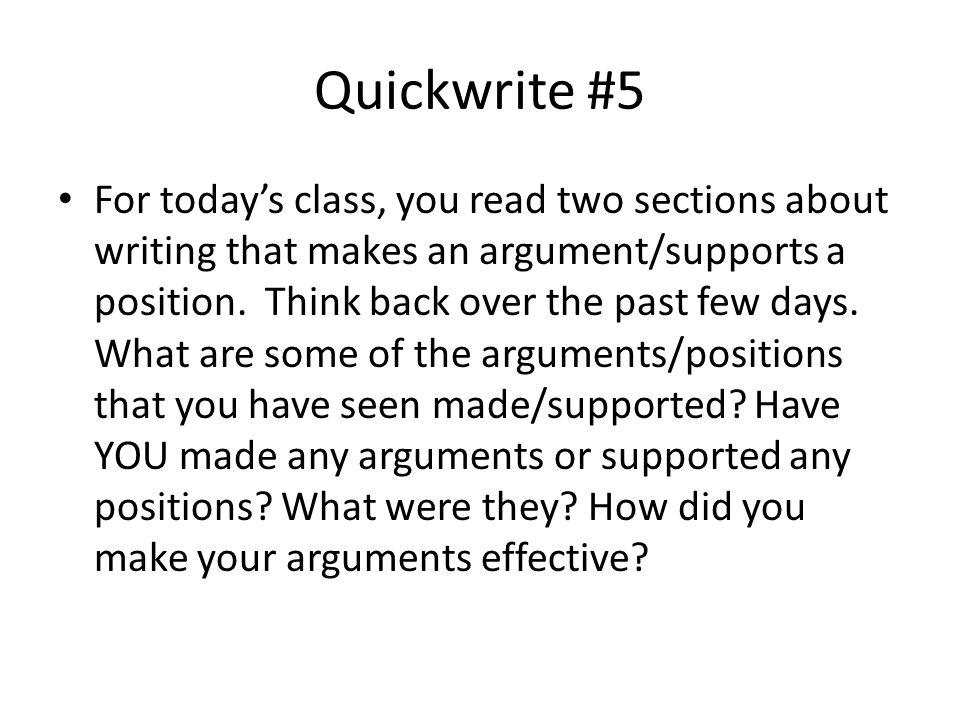 Quickwrite #5
