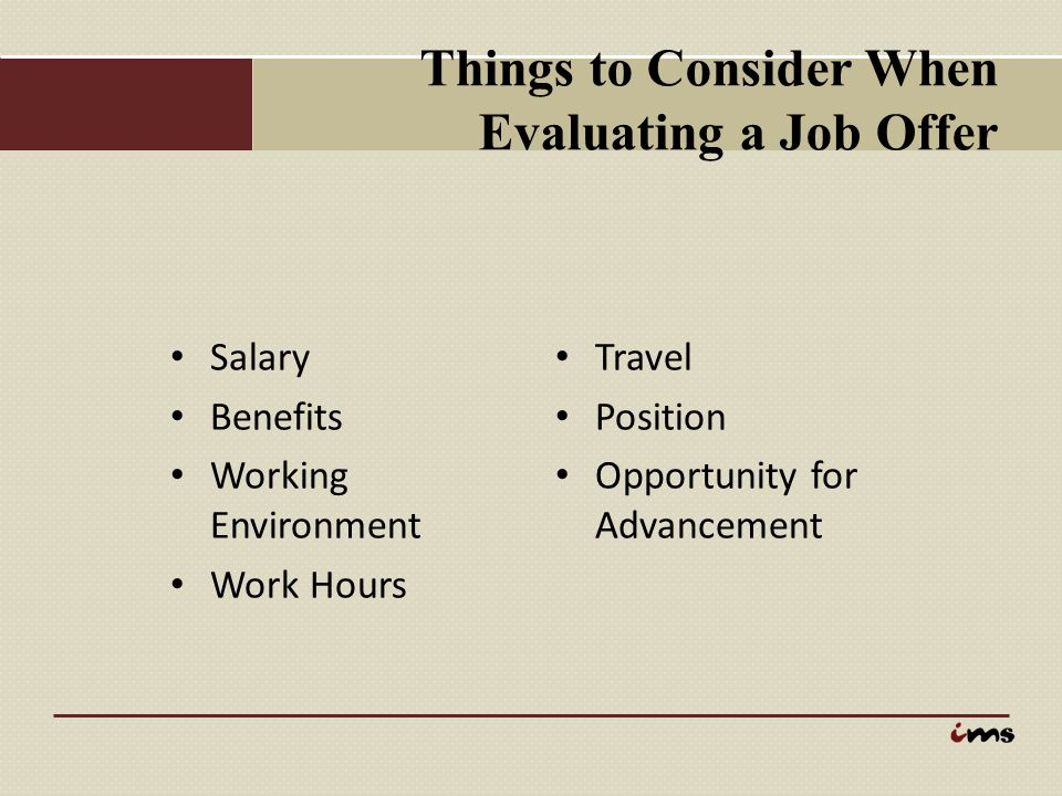 Things to Consider When Evaluating a Job Offer
