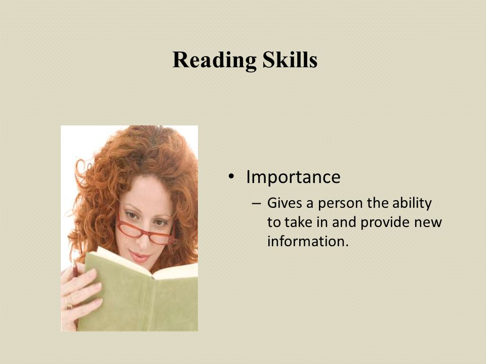 Reading Skills Importance