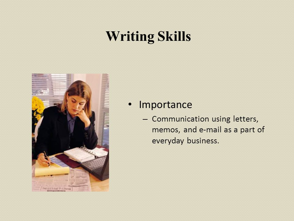 Writing Skills Importance