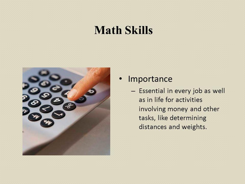 Math Skills Importance