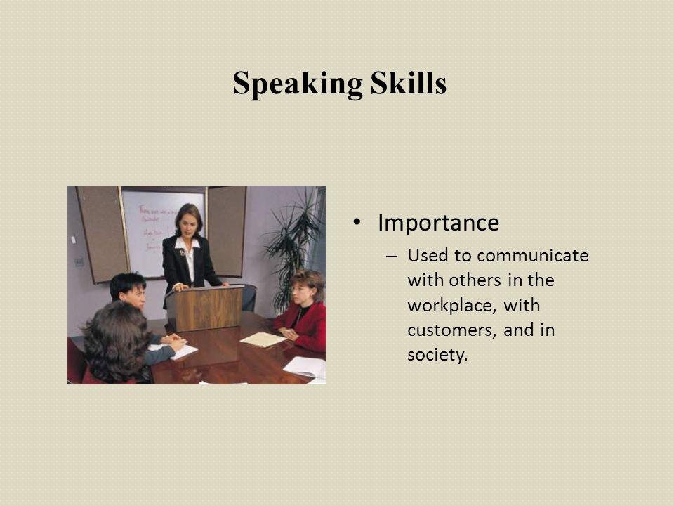 Speaking Skills Importance