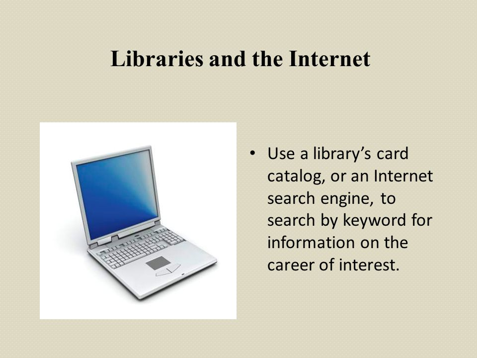Libraries and the Internet
