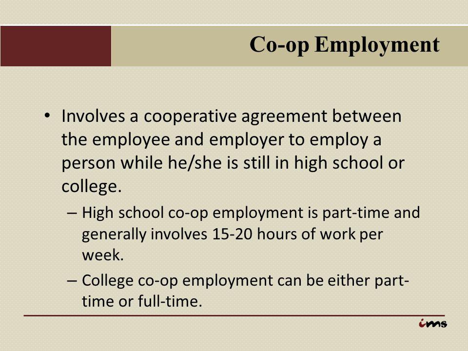 Co-op Employment