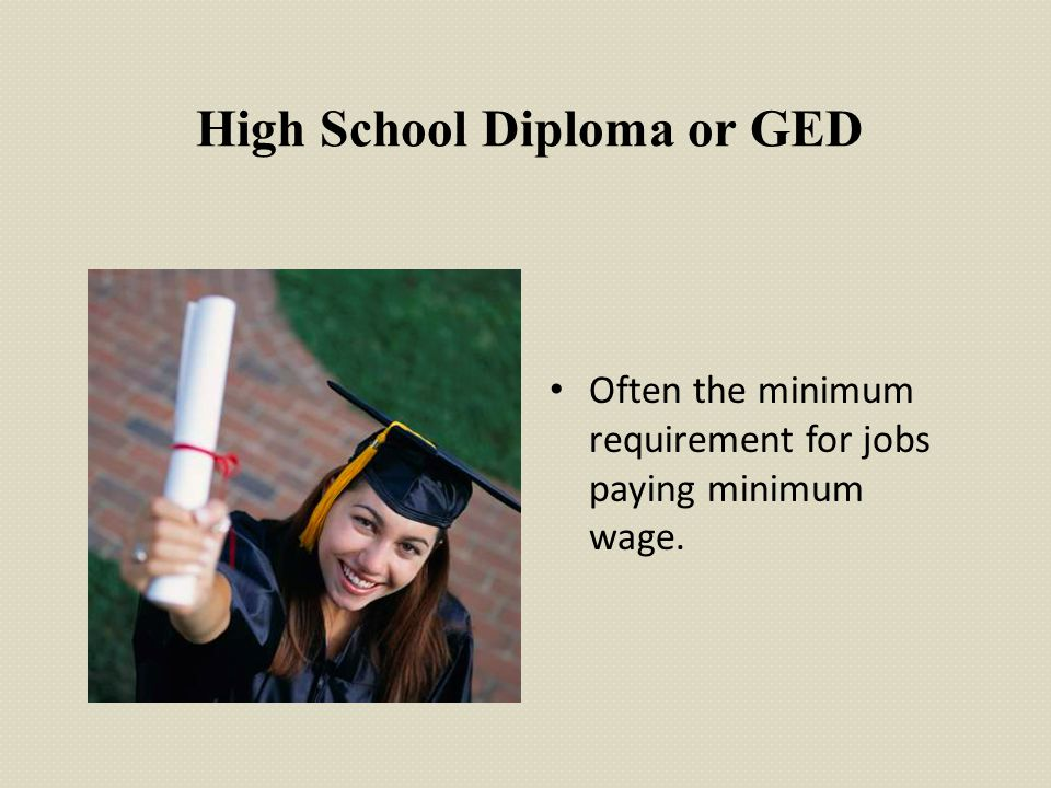 High School Diploma or GED