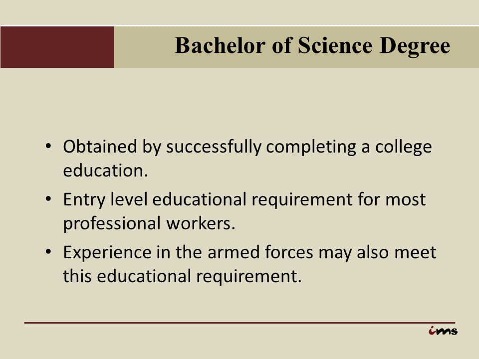 Bachelor of Science Degree