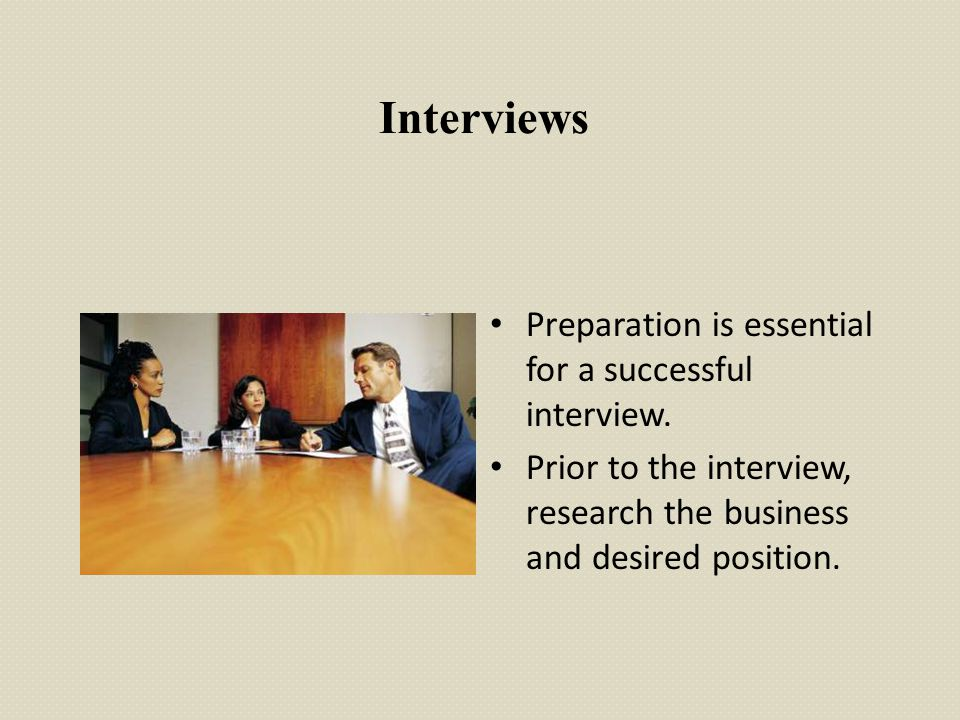 Interviews Preparation is essential for a successful interview.