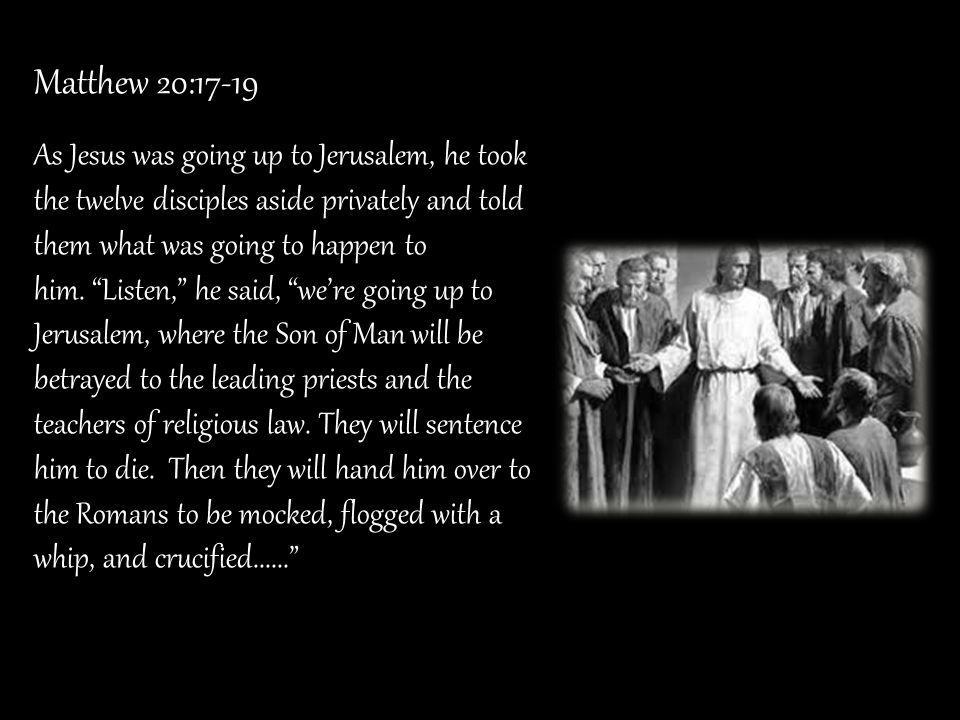 Matthew 20:17-19