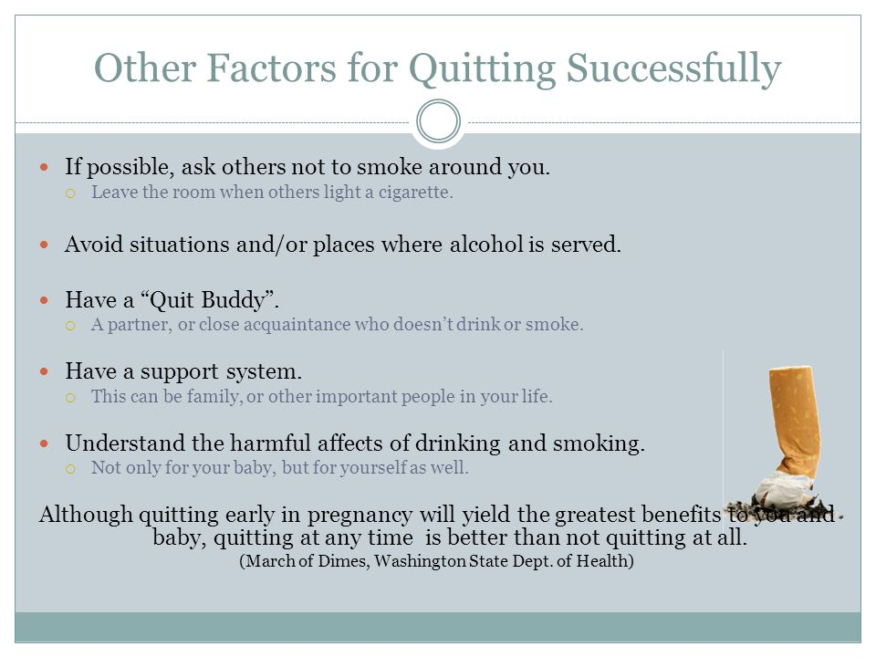 Other Factors for Quitting Successfully